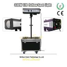 WS Upgraded 330w LED Follow Spot Light With Power 330 W LED Follow Tracker Free Flight Case For Wedding/Theater Performance(China)