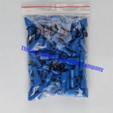 FDFD2-250 FDFD2.5-250 Female Insulated Electrical Crimp Terminal for 1.5-2.5mm2 Connectors Cable Wire Connector 100PCS/Pack FDFD
