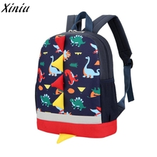 Baby Boys Girls Backpack Kids Dinosaur Pattern Animals Toddler School Bag Bookbag 2017 Fashion Trend Trevel Bagpack Mochila#8826(China)