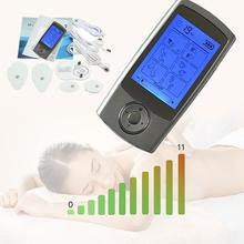 Naipo Electronic Muscle Stimulator Rechargeable TENS Unit Pulse Massager With Electrode Pads(China)