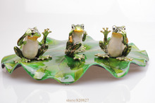 Buy See, Hear, Speak Evil Frog Trinket Box Set 3 Frogs Trinket Box Green Frog Jewelry Trinket Box Frog Gift Pill Box for $59.99 in AliExpress store
