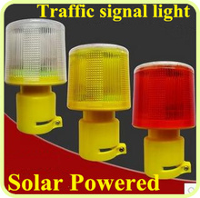 Led solar powered road safety traffic warning lights,signal lights,emergency lights,warning Beacon,Alarm Lamp,waterproof(China)