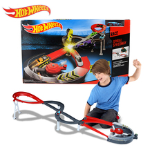 Original Hot Wheels Spiral Speedway Track Model Cars Toys Car Racing Train Slots Kids toy Classic Toy For Boys Hot Sale X2589(China)