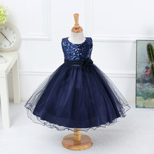 2017 New Summer Sequins Decorative Princess Girls Dresses For Party And Wedding Baby Clothing Vestidos Infantis(China)
