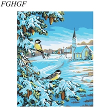 DIY Home Decor Frameless Pictures Bird Painting By Numbers DIY Digital Oil Painting On Canvas Wall Art