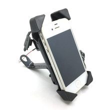 Universal Motorcycle USB Charger 2 In 1 Motorbike 3.5-7 Inch Phone GPS Holder Bracket Mount For Kawasaki Honda Yamaha Ducati