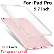 "Case TPU For Apple iPad Pro 9.7 Protective Smart cover Protector Leather For iPad Pro9.7 PU Tablet 9 7"" Transparent shell Sleeve"