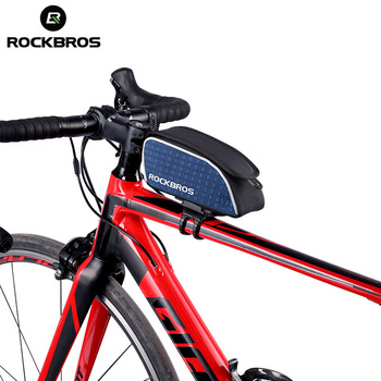 ROCKBROS Vélo Sac Étanche À La Pluie Top Tube Vélo Équitation Vélo Sacs Avec Couvercle Portable Pratique VTT Route Vélo Vélo Accessoires