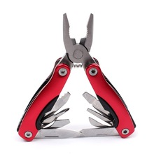 Stainless Steel 9 In1 Tool Plier Portable Pocket Mini Knit Compact Knives Opener Pry bar Saw