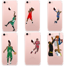 NBA Basketball Phone Case Curry Harden James Coque for iphone 5 5S SE 6 6S Plus 7 7Plus 8 8Plus Kyrie Irving Hard For iPhone X(China)