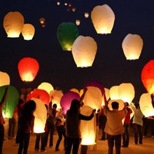 Paper Chinese Lanterns Fire Sky Flying Paper Candle Wish Lamp for Birthday Wish Party Festival Lantern Halloween Christmas