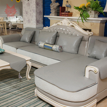 Siiboo European Style Grey Sofa Cover Sectional De Sofa