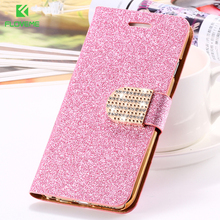 For iPhone 6 6S Plus 7 Plus Cover Glitter Bling Crystal Diamond Leather Wallet Case For Samsung Galaxy S6 Edge Plus S7 Edge Bags(China)