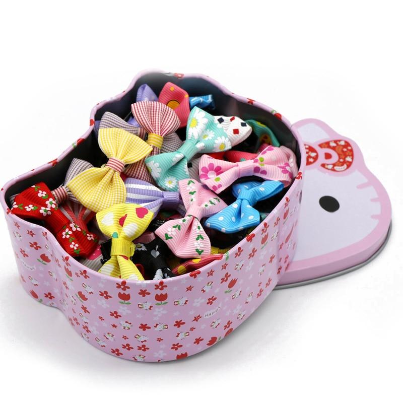 50pc In Hello Kitty Box Bow Knot Hair Clip Barrett...