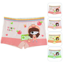 Girls Boxer Underwear 2016 New Children Kids Cute Printing Panties For Girls Briefs Children Clothing Wholesale 4Pcs/Lot(China)