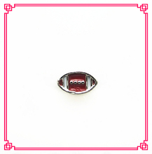 Hot selling football floating charms living glass floating memory lockets