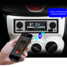 New 12V Car Radio Bluetooth 1 din car stereo Player Phone AUX-IN MP3 FM/USB/radio remote control For phone Car Audio(China)