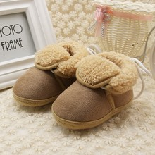 1 Pair Toddler Newborn Boys Girls Winter Thick Warm Boots Baby Shoes Soft Bottom Non-slip First Walkers 0-18 Months