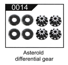WLtoys 12428 12423 RC Car Sapre Parts Upgrde 12428-0014 12T Differential Velocity Small Asteroid Gear 8Pcs/Set