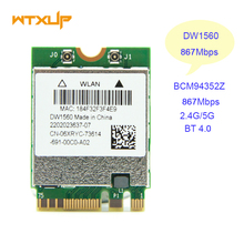 WiFi Wireless Network Card BCM94352Z NGFF M.2 Wifi Bluetooth 4.0 06XRYC DW1560 802.11AC Wlan 867Mbps