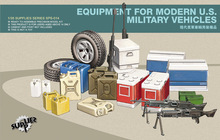 MENG SPS-014 1/35 Scale Equipment for Modern U.S. Military Vehicles Plastic Model Building Kit(China)
