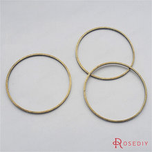 Wholesale Diameter 30mm Thickness 0.8mm Antique Bronze Plated Round Brass Closed Rings Diy Jewelry Findings 20 pieces(JM7158)