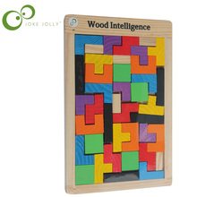 free shipping Child wooden Large classic wooden tetris toys for children education toys wooden toys kids toys puzzle(China)