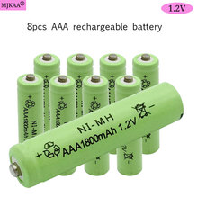 8pcs AAA NI-MH 1.2V Rechargeable Battery AAA 1800mAh Battery 3A Rechargeable Batteries NI-MH Battery for Mouse Camera Toys