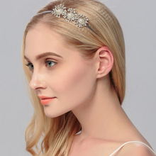 Rhinestone Headband, Bridal Accessory, Circlet Headpiece, Crystal Tiara, Crystal Halo, Bridal Bling