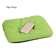 Dog Beds For Small Dogs 1 PC Dog Blanket Pet Cushion Dog Cat Beds Soft Warm Sleep Mat 31*37cm Candy Colors Mat Wholesale D28
