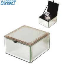 SAFEBET Brand Fashion Key Box Crystal Glass Jewelry Storage Box Men Watch Perfume Storage Container Organizer Creative Watch Box