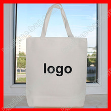 (200 pieces/lot)  size 30x40cm custom logo canvas cotton tote bag