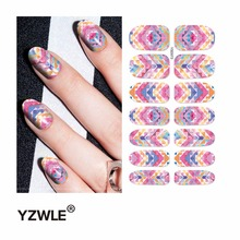 YZWLE 1 Sheet Water Transfer Nails Art Sticker Manicure Decor Tool Cover Nail Wrap Decal (YSD073)(China)