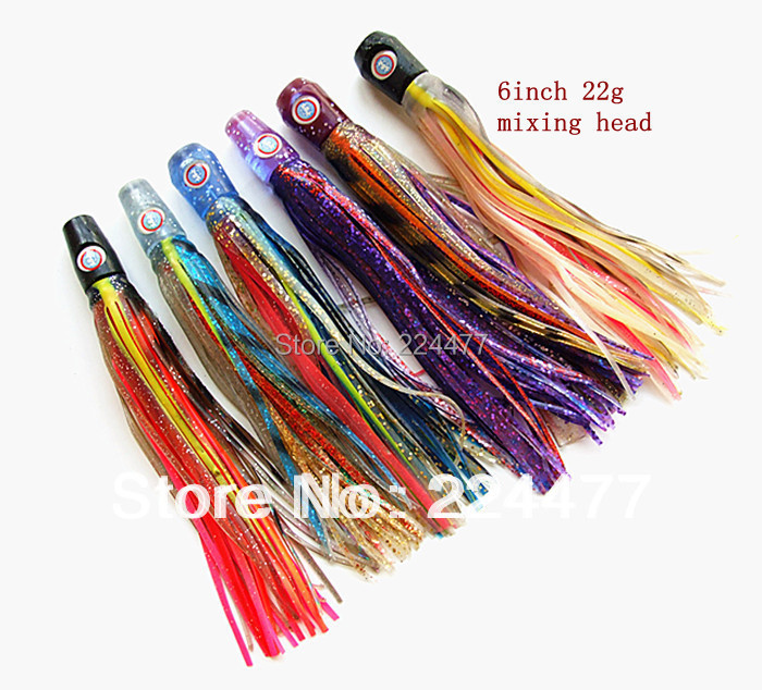 6 inch soft octopus skirt bait fishing lure fishing tackle tuna lures soft head sea trolling fishing lure salt water lures<br><br>Aliexpress
