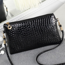 2016 new lady crocodile Purse Shoulder Bag Satchel Bag across the Korean mobile phone manufacturers wholesale