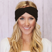 Hot Fashion Elasticity Turban Headbands For Women Head Band Headband Headwear Hairbands Bows Girls Hair Accessories