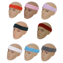1x Headband and 2x Elastic Wrist bands for Sports - Red