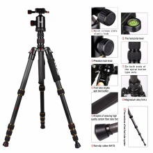 ZOMEI Z699C Carbon Fiber Portable Tripod with Ball Head Compact Travel for Canon,Sony, Nikon, Samsung, Panasonic, Olympus, Kodak(China)