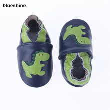 100% Genuine Cow Leather Baby Moccasins Cartoon Pattern Soft Soled Baby Boy Shoes Girl Newborn Infant Crib Shoes First Walkers