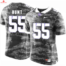 Nike 2017 TCU Jonathan Anderson 41 Purple Can Customized Any Name Any Logo Limited Boxing Jersey - White Joey Hunt 55(China)