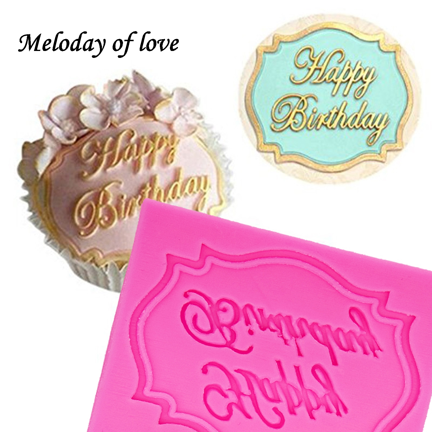 Baby Boy And Baby Girl Letters Cake Decoration Mould Fondant Chocolate Icing