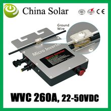 Solar power micro inverter 260W,22-50 V DC,Grid Tie solar  inverter Can with Power Line Carrier-current Communication