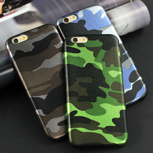 Newest Army Camo Camouflage Leather Back Cover Case For iphone 7 6 6s Plus 5s SE Fundas Luxucy Phone Case For iphone 6 Plus Capa