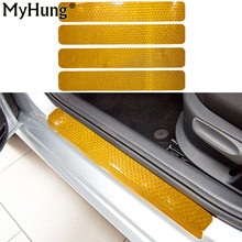 Door Sill Scuff For Fiat Abarth Spider Qubo Doblo Freemont Plate Welcome Pedal Threshold Protect reflector Stickers
