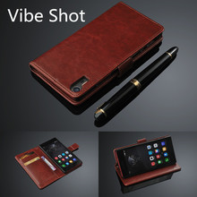 lenovo Vibe Shot card holder cover case for Lenovo Vibe Shot Z90 5.0-inch leather phone case ultra thin wallet flip cover(China)
