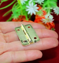 30*21MMThick flat hinge Yellow wooden gift box hinge Metal hinge Connect buckle Ordinary hinge Doors and windows Wholesale(China)