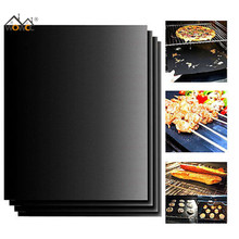 1pcs Reusable BBQ Grill Mat Pad Sheet Hot Plate Portable Easy Clean Nonstick Bakeware Cooking Tool BBQ Accessories