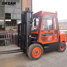 High Quality 3 Tons Diesel Forklift Big With Cockpit Power Warm Wind System CPCD30(China)