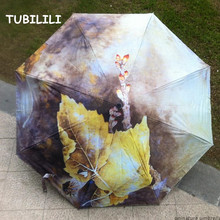 Oil Painting Umbrella Drawing Sunshade Brand Art Umbrella UV Protection Wind Resistant Quality Umbrella Paraguas UV