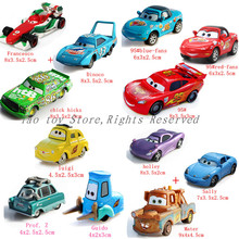 3Pcs/ lot cars pixar 2 diecast models Vehicles kids toys car toys for children 43 the king DINOCO mater sally holley HTB